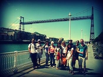 Actividades Gratuitas con los cursos de espanol visita a ciudades cercanas puente colgante de vizcaya