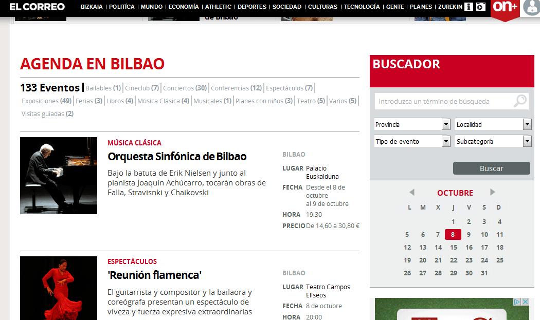 Página web agenda el correo