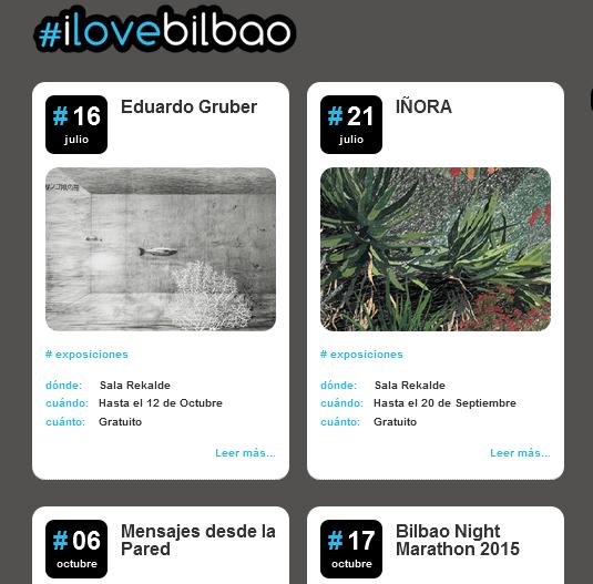 Página web I love Bilbao